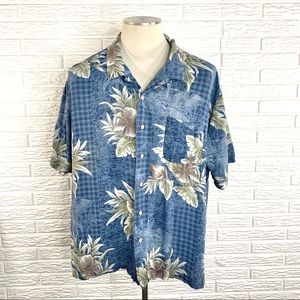 Batik Bay Mens Floral Hawaiian Button Up Shirt